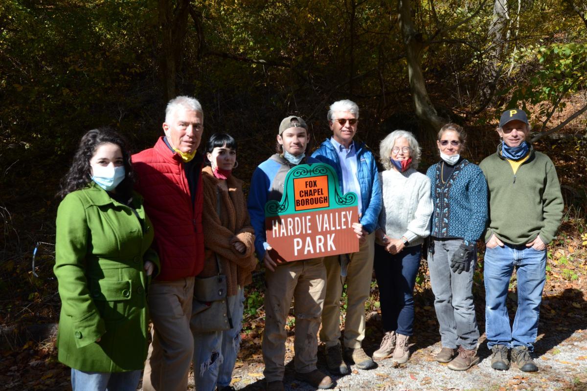 Members of the Hardie Family at the opening of Hardie Valley Park
